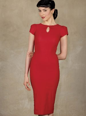 EVIE FITTED   RED-0