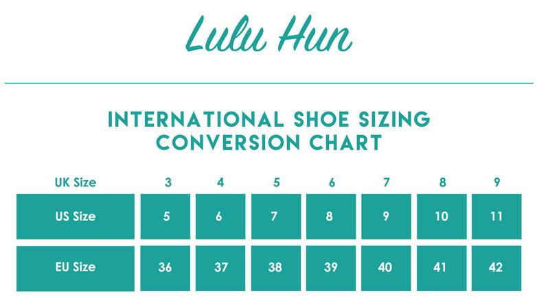 Lulu Hun Shoe Size Chart