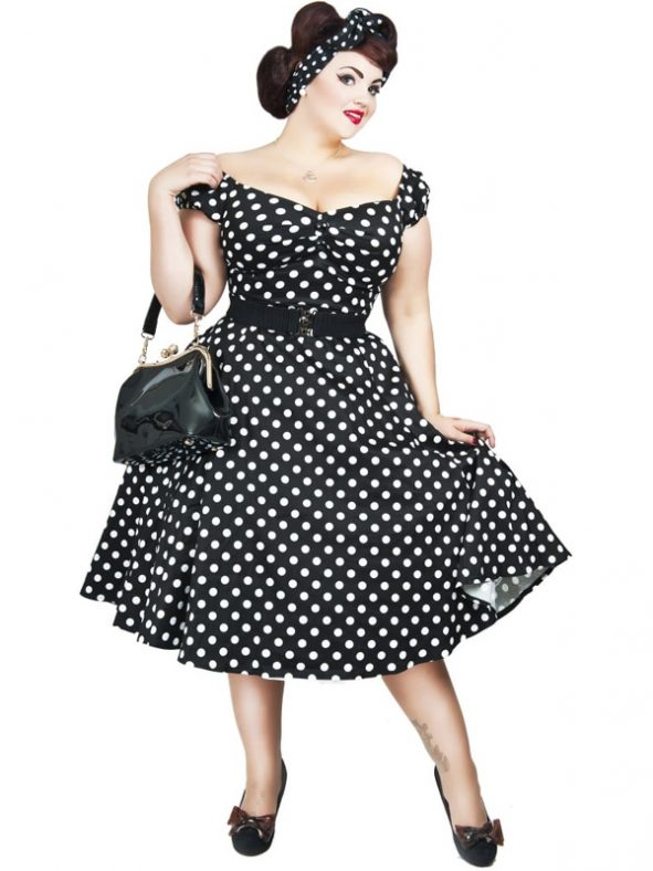 DOLORES DOLL POLKA | BLACK-0