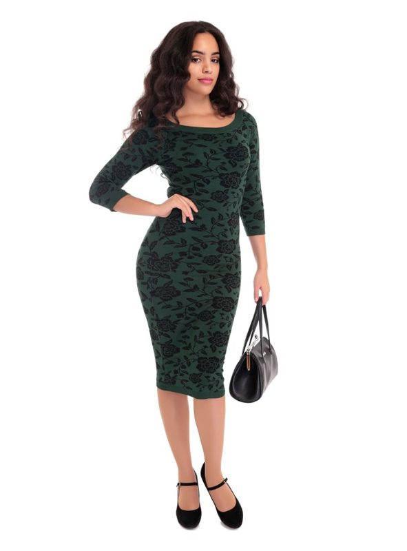 IVANA KNITTED DRESS | GREEN-0