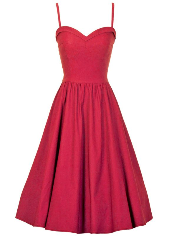 SUMMERTIME SWING DRESS | RED-0
