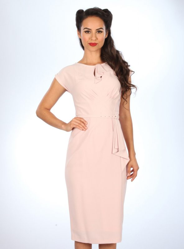 TIMELESS FITTED DRESS | PINK-0