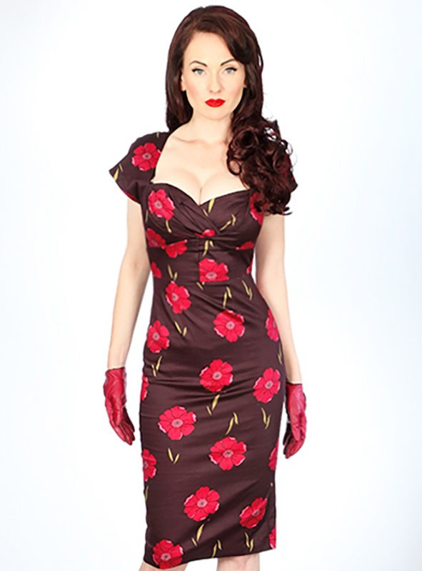 ROSY BELL FITTED DRESS -0