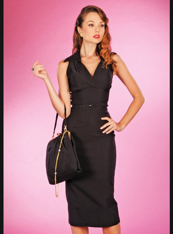 NYLAD FITTED DRESS | BLACK-0