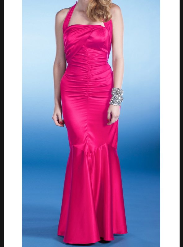 SERENA EVENING DRESS | HOT PINK-0