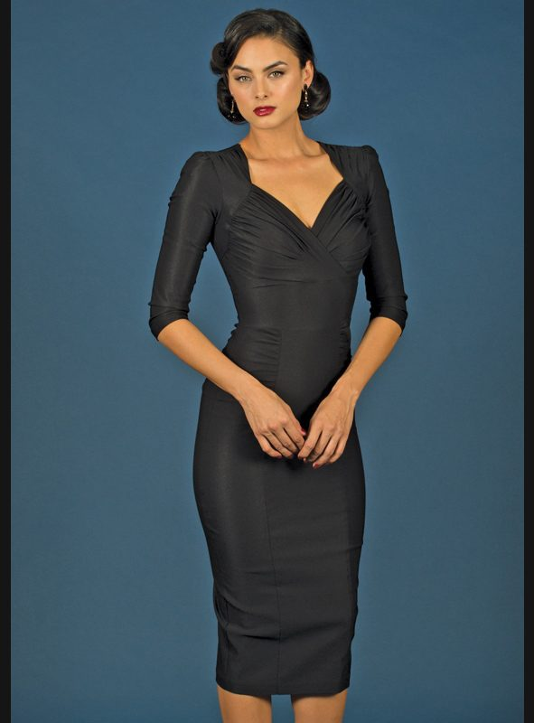 LOMA FITTED DRESS | BLACK-0