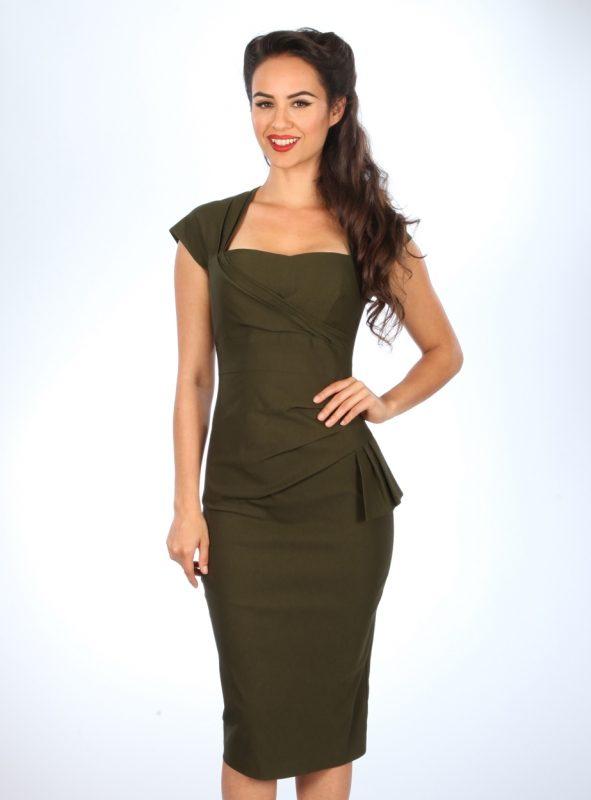 UMA DRESS | ARMY GREEN-0