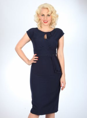 TIMELESS FITTED DRESS | NAVY-0