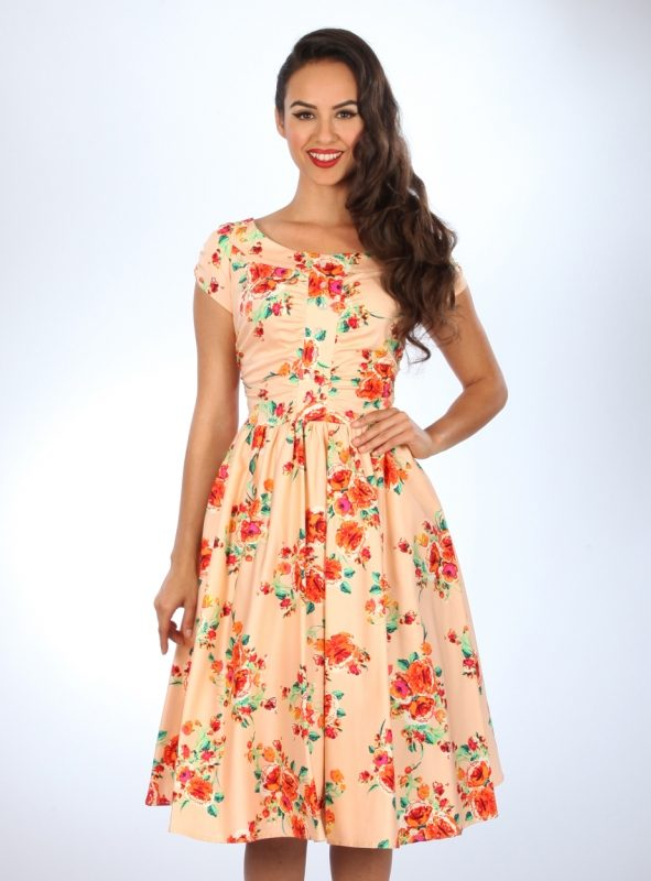 CORA SWING DRESS | BLUSH FLORAL-0