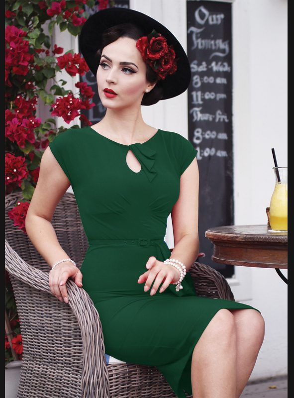 TIMELESS FITTED DRESS | GREEN-0