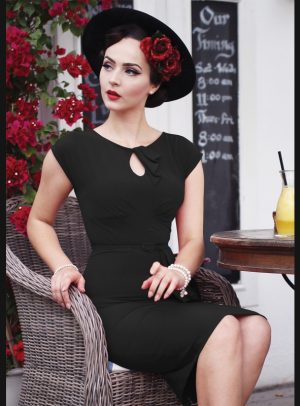 TIMELESS FITTED DRESS | BLACK-0