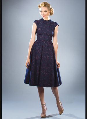 ANNA MARIE NAVY SWING DRESS-0