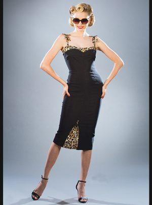 NASHVILLE BLACK FITTED DRESS-0