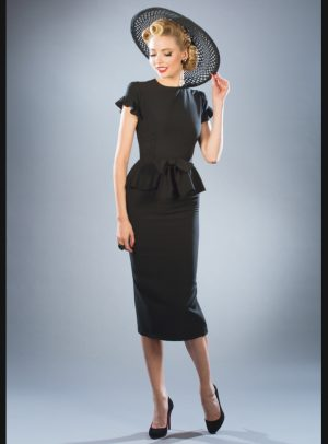 WILLOW FITTED DRESS | BLACK-0