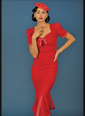 ARGENTINA FITTED DRESS RED-0