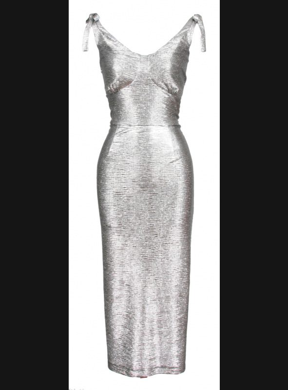 RENO FITTED DRESS | SILVER-0