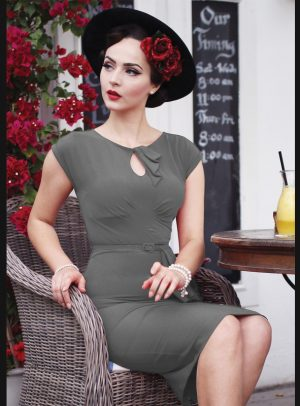TIMELESS FITTED DRESS | CHARCOAL GREY-0