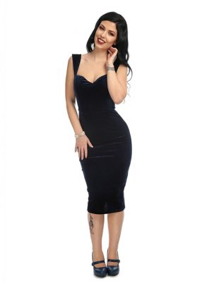 ANDROMEDA VELVET PENCIL DRESS-0