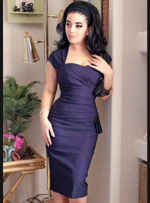 UMA DRESS | NAVY-0