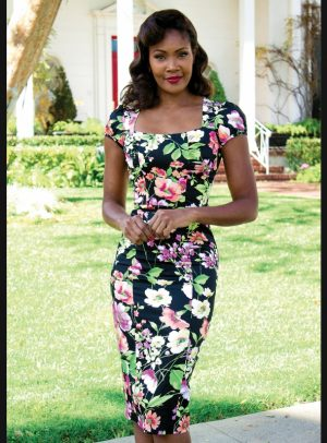 ISLA FITTED DRESS FLORAL PRINT-0