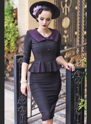 Stop Staring Elisha Black Purple