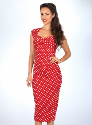 LOVE   RED WITH WHITE DOTS-0