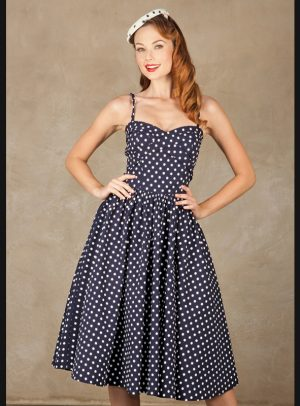 AMERY SWING | NAVY WHITE DOTS-0